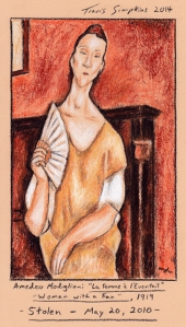 Woman-with-a-fan-1919-Amedeo-Modigliani-Stolen-May-20-2010-by-Travis-Simpkins-sm